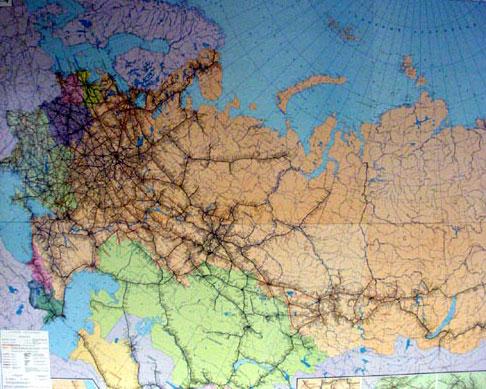 Схема Железных дорог стран СНГ